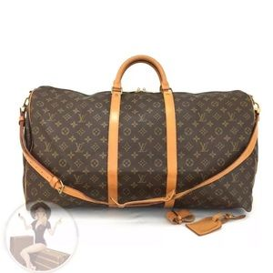Louis Vuitton Monogram Keepall Bandouliere 60 Bag
